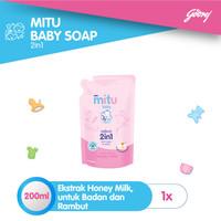 Mitu Baby Liquid Soap 2in1 [Refill 200ml]
