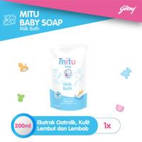 Mitu Baby Liquid Soap Milkbath [Refill 200ml]