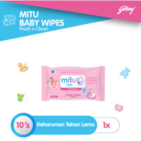 Mitu Baby Wipes Fresh n Clean Pink [10'S]