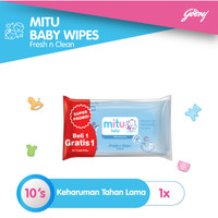 Mitu Baby Wipes Fresh n Clean Blue [BOGOF 10'S]