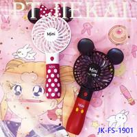 Kipas Angin Mini Portable mickey and minnie/Mini Fan JK-DFS-1901