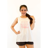Surfer Girl Summer Backless Tank Top 19JANTTP02WHT