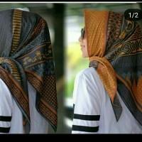 hijab voal premium biru mustard/kerudung segi empat