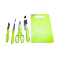 PRESS Talenan Full Set (Pisau + Talenan + Gunting) / Knife Set /
