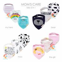 MOM'S CARE 3-Piece Slabber Segitiga - Celemek Bayi - Baby Bibs