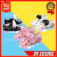 E238 Sepatu LED Sepatu anak MINNIE MOUSE Sepatu wanita Sepatu lampu
