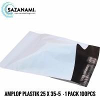 AMPLOP PLASTIK 25 X 35+5 POLYMAILER BAG POLYBAG PLASTIK PACKING 100Pcs