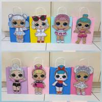 LOL Surprise Doll Paper Bag Ulang Tahun 3D Timbul 27x21x11cm