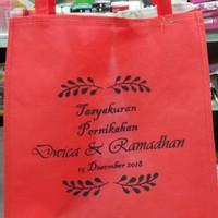 Goodie bag / Tas Spunbond / Tas Pernikahan 30x40x10 + sablon