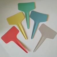 Label Nama/Tag Tanaman anti air plastik PVC bentuk T