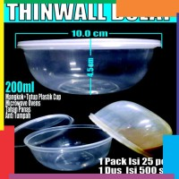 Cup puding 200ml Cup Plastik Bening Thinwall Round Mangkok Bulato