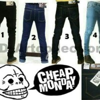 Celana Jeans Melar / Celana Cheap Monday / Jumbo / 36 / 38