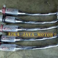 Knalpot Racing DRAG CSR Chrome Yamaha Vega R suara Gahar Bulat bukan B