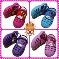Sandal anak betty boop kancing sepatu sendal anak bayi balita betty