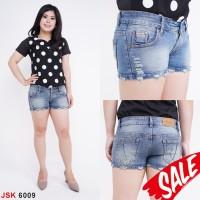 Celana Hotpants Mini Wanita JSK Jeans [SIZE 27-30] BIRU MUDA