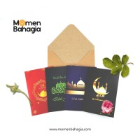 Paket Kartu Ucapan Lebaran Premium + Amplop Tebal