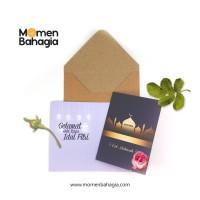 Kartu Ucapan Lebaran Lipat Design Premium + Amplop Tebal