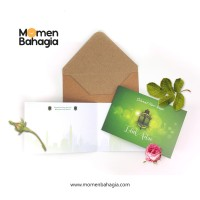 Kartu Ucapan Lebaran Lipat Premium + Amplop Tebal