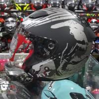 Helm Half Face KYT DJ Maru SE Venom Black Doff / Silver