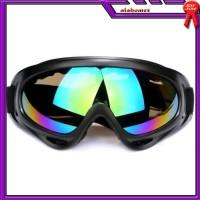 AL505 Kacamata Goggle Ski Tactical Sepeda Motor Pelindung Mata Lensa