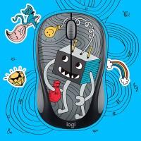 Terlaris Logitech Wireless Mouse Doodle Collection M238 Keren