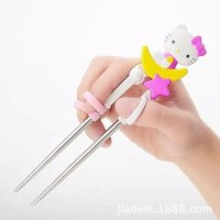 Promo Chopstick Training / Sumpit Anak Hello Kitty - Merah Muda