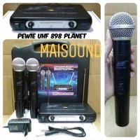 Mic Microphone Wireless mik Pewie UHF 898 Planet Profesional uhf8