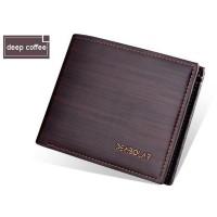 Dompet Pria Bahan Kulit Strip Pattern YYHF006-1 Terbaru Dark 970Dp Bag