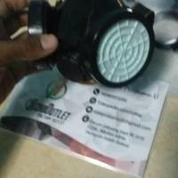 Paling Terpopuler Mask/ Masker Gas Double/ Dual Respirasi+Kacamata