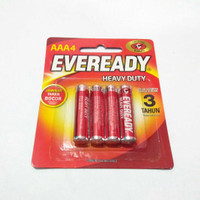 Baterai/Batrai/Battery/Batere AAA/A3 EVEREADY Merah per Pack isi 4 pcs