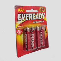 Baterai/Batrai/Battery/Batere AA/A2 EVEREADY Merah per Pack isi 4 pcs