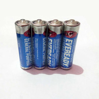 Baterai/Batrai/Battery/Batere AA/A2 EVEREADY Biru per Pack isi 4 pcs