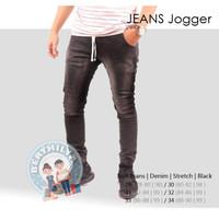 JOGGER Jeans |Softjeans Pria | Celana Panjang Jogger PREMIUM | Black