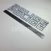 Sticker Cutting POLICE Putih 30cm x 4,3cm Stiker Body Motor Reflective