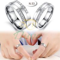 Cincin Kawin Tunangan Perak Couple N.53
