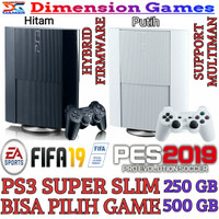 PS3 PS 3 SONY PLAYSTATION 3 SUPER SLIM 500 GB OFW REFURBISH + REQ GAME