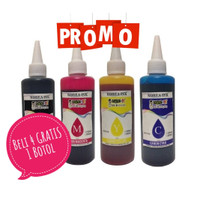 Tinta Printer Dye Canon 200ml (Black) Asli Korea Water & Anti UV