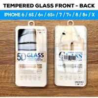 Tempered Glass iPhone 6 6S 6  6S  7 7  8 8  Plus X Depan dan Belakang