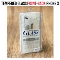 2in1 Tempered Glass iPhone X / ANTI GORES iPhone 10 Depan dan Belakang