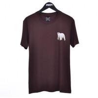 POLAR / Men Short Sleeves Tshirt Dark Brown - Premium Nation Original