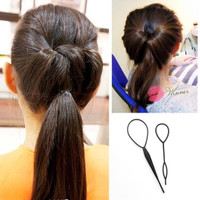 set hair clip alat aksesoris rambut cepol jepit hair bun thumbnail