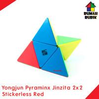 Rubik Pyraminx Yongjun 2x2 Jinzita STICKERLESS RED / Pyraminx 2x2
