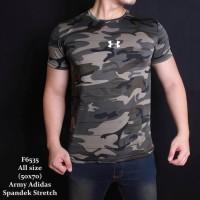 Baju kaos army camo tentara ABRI TNI Loreng gym fitness komando strech