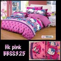Bed cover set + Sprei motif Hello Kitty Ukuran King size ( 180X200 )