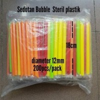 sedotan bubble steril 1218 wf warna warni/solid +bungkus plastik