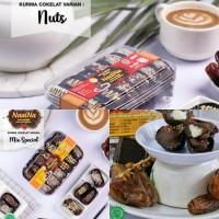 Paket 3Toples Kurma Coklat Kurcok Naaina Mix Nuts, Mix Spesial, Duren