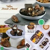 Paket 3 Toples Kurma Coklat Kurcok Mix Special, Almond, Duren
