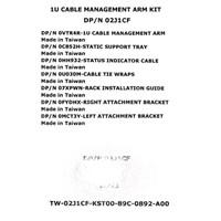 Dell Cable Management 1u Arm Kit 02J1CF