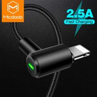 MCDODO Kabel Charger Lightning Braided 90 L Shape 1.8 Meter