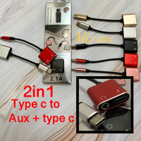 [KOTAK] Type C to Aux 3.5mm Type C charger 2 in 1 Super High Qualitas